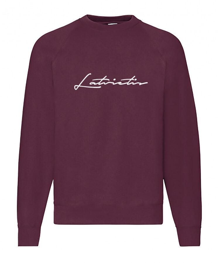 """Vīriešu džemperis ar izšūtu uzrakstu """"Latvietis"""""""