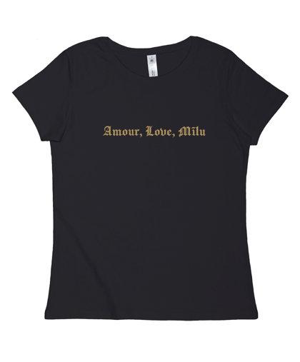 """T-krekls """"Amour, Love, Mīlu"""""""
